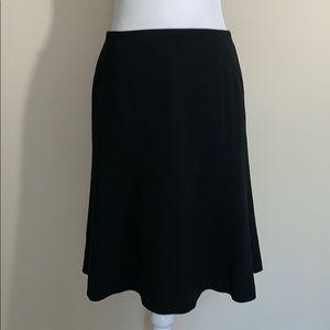 Ann Taylor Black Structured Flounce Flared Skirt 4